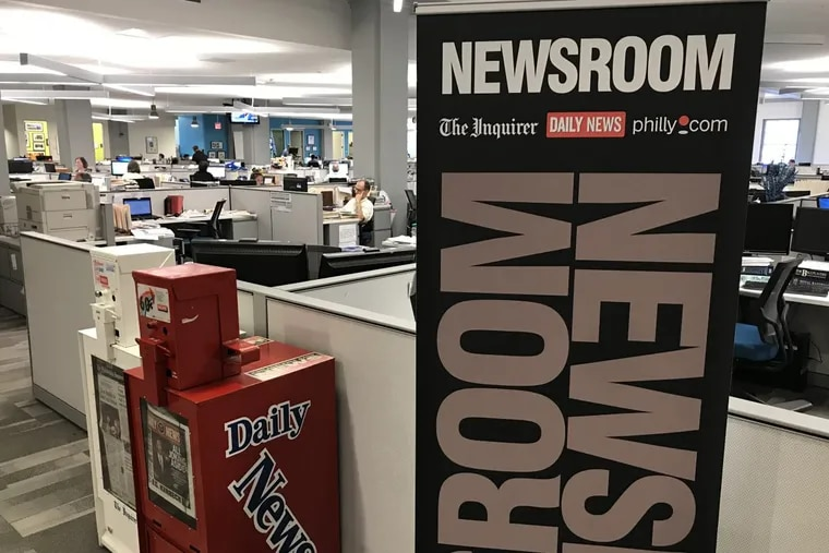 The Inquirer, Daily News and Philly.com newsroom  at Eighth and Market Streets.
