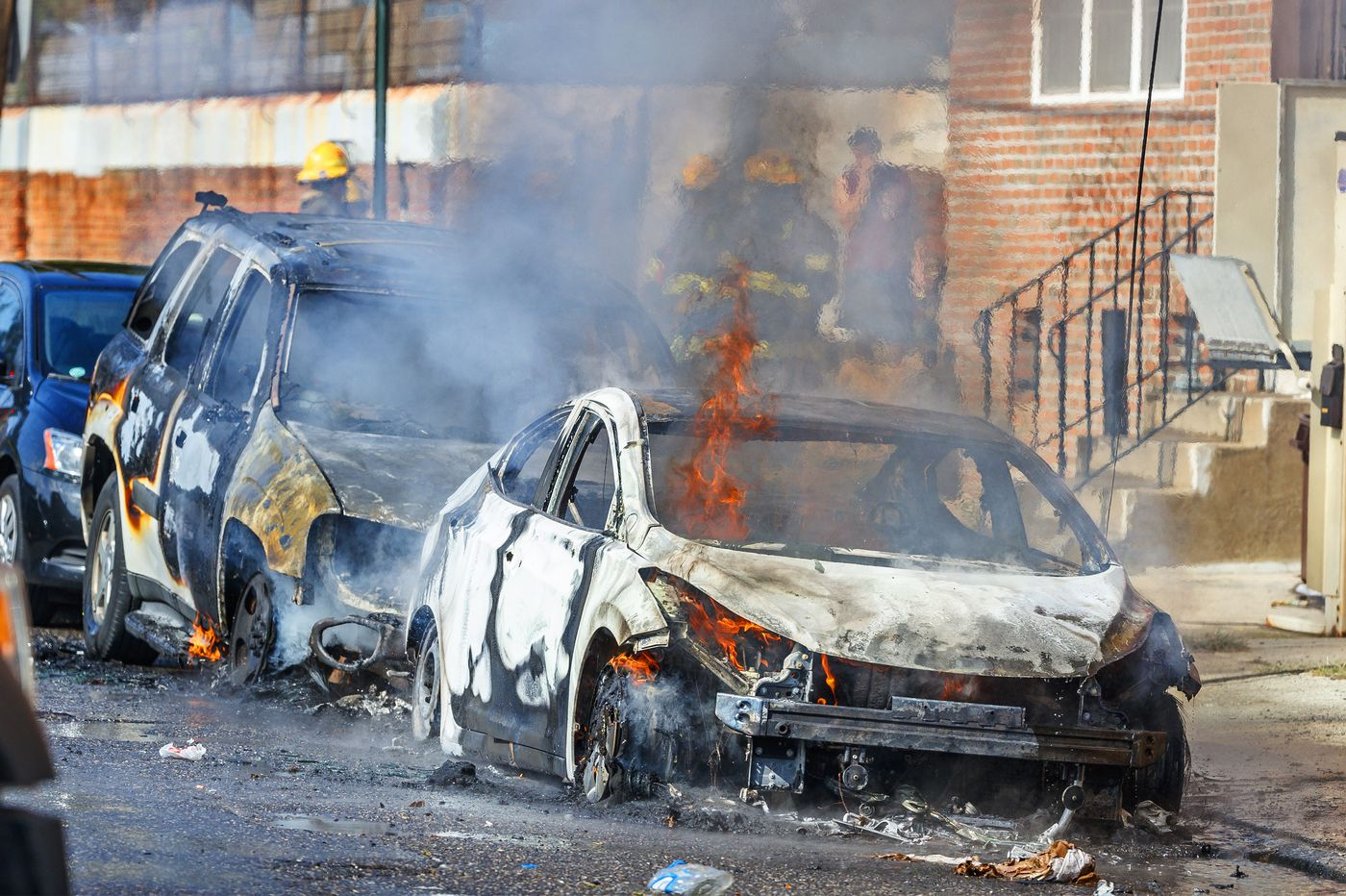 Cars set ablaze by downed power line in Francisville; power restored to 700 customers