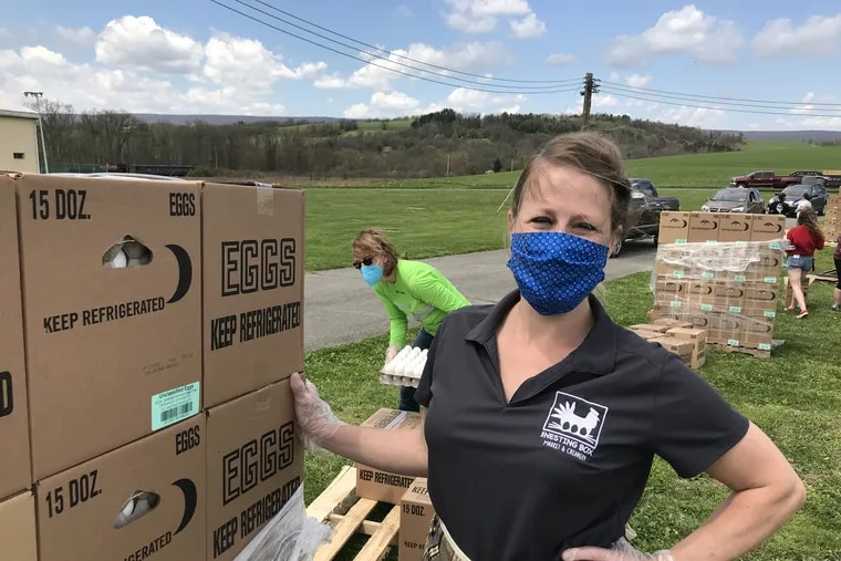 Timi Bauscher of Kempton sprang into action to keep afloat a local farmer who lost his contract to sell his eggs to a processor.