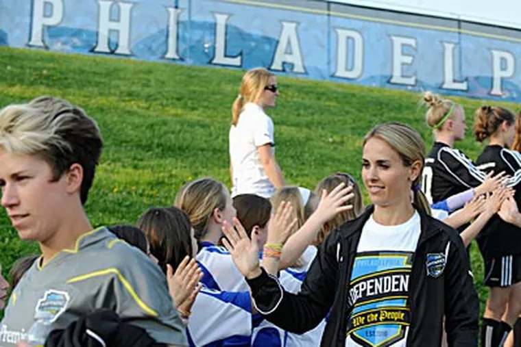 Heather Mitts and the Independence start the playoffs Sunday at West Chester University. (Clem Murray / Staff File Photo)