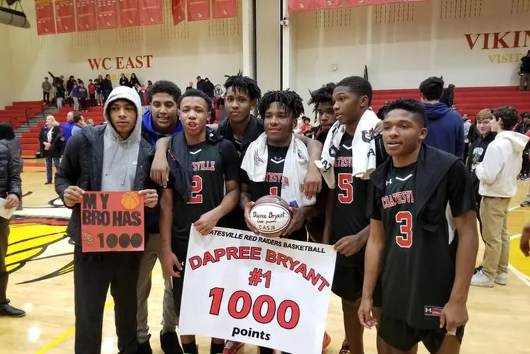 Dapree Bryant recorded his 1,000th career point on Thursday in Coatesville's win over West Chester East.