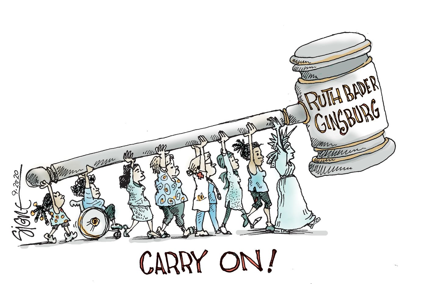 Political Cartoon: Ruth Bader Ginsburg's followers