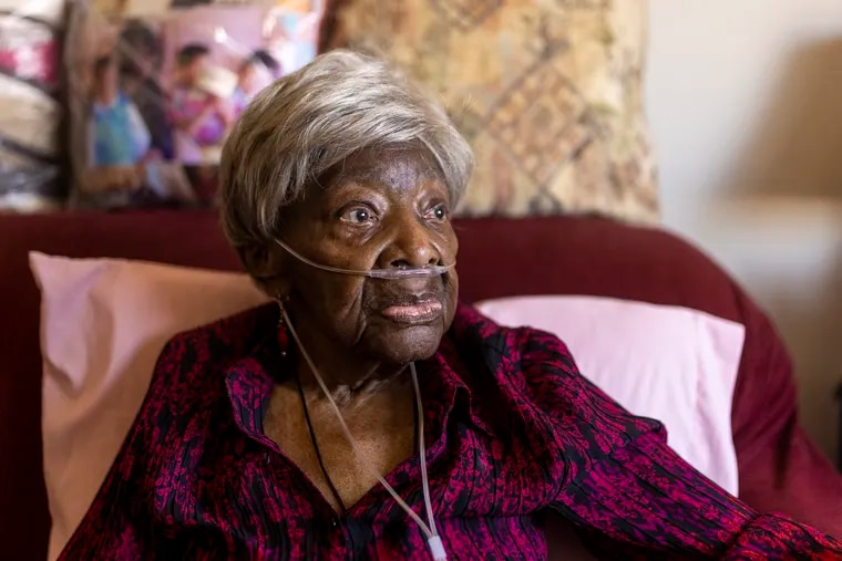 """Ruth Wilson, 99, a sheet metal worker at the Navy Yard during World War II, is one of 600,000 African American """"Rosie the Riveters"""" who helped win the war and expand the Black middle class. She is featured in a forthcoming documentary by Gregory Cooke."""