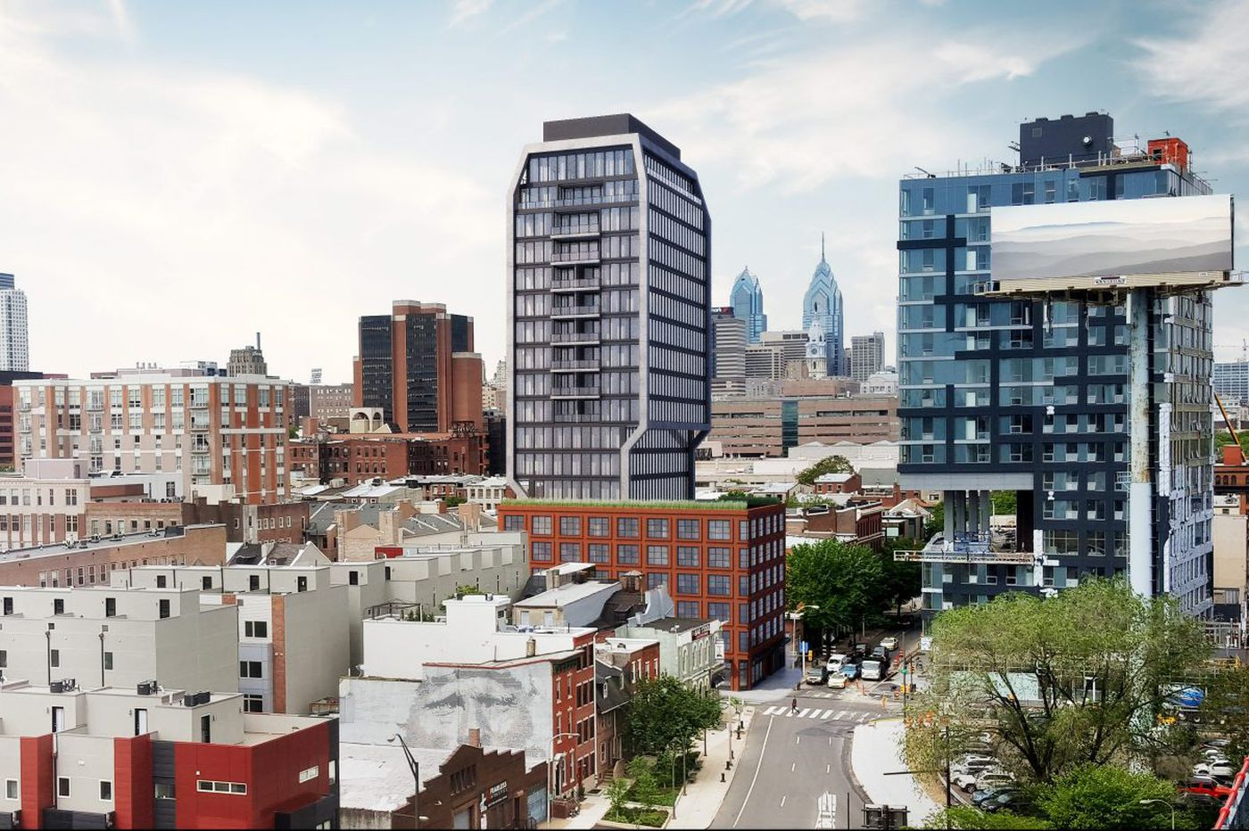 Hotel-condo hybrid tower planned for corner in Old City restaurant-supply row