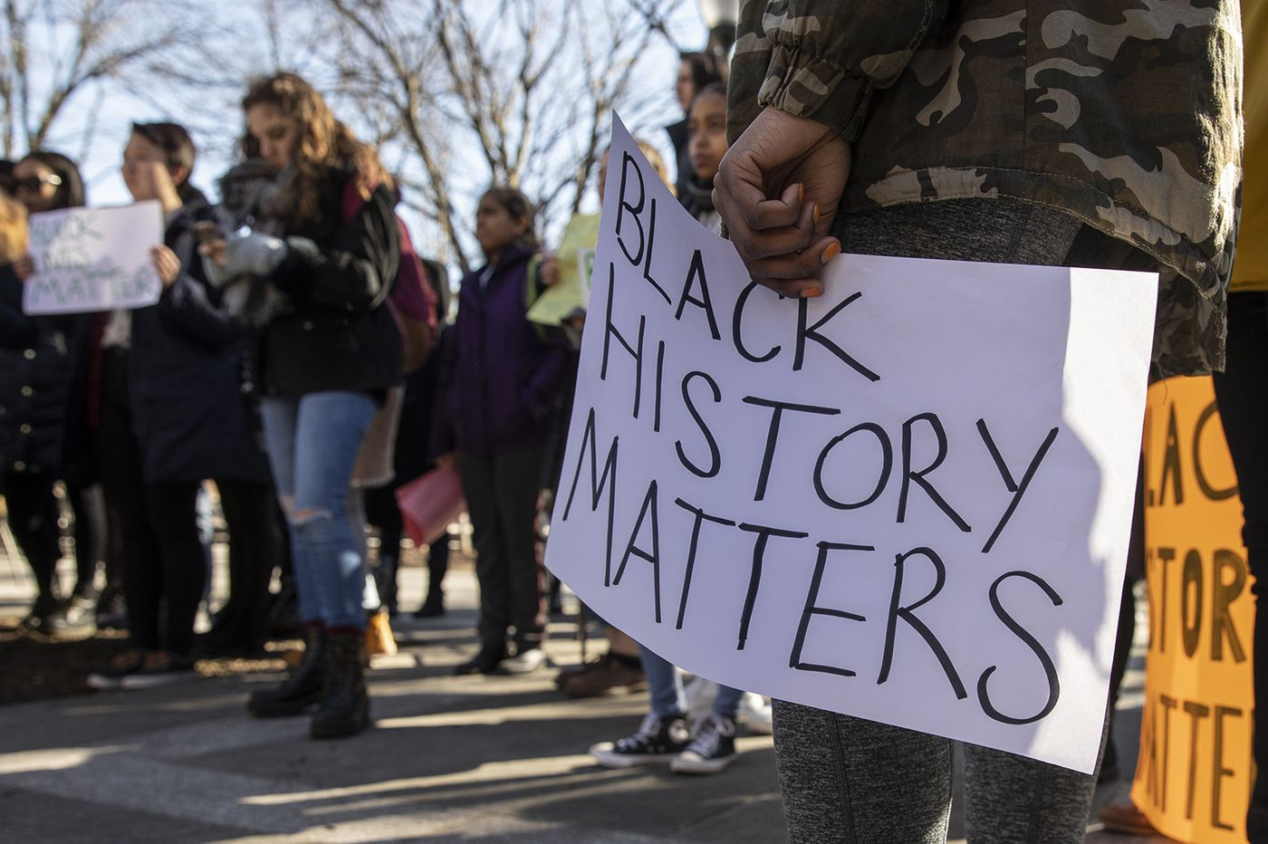 Penn students join dining-hall workers to condemn lack of Black History Month observance