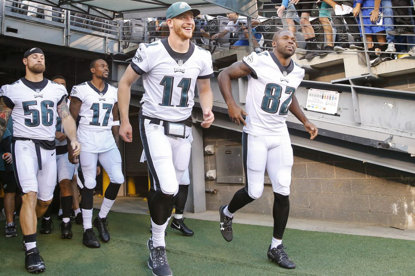 Eagles' Torrey Smith on Carson Wentz: 'He is the MVP'