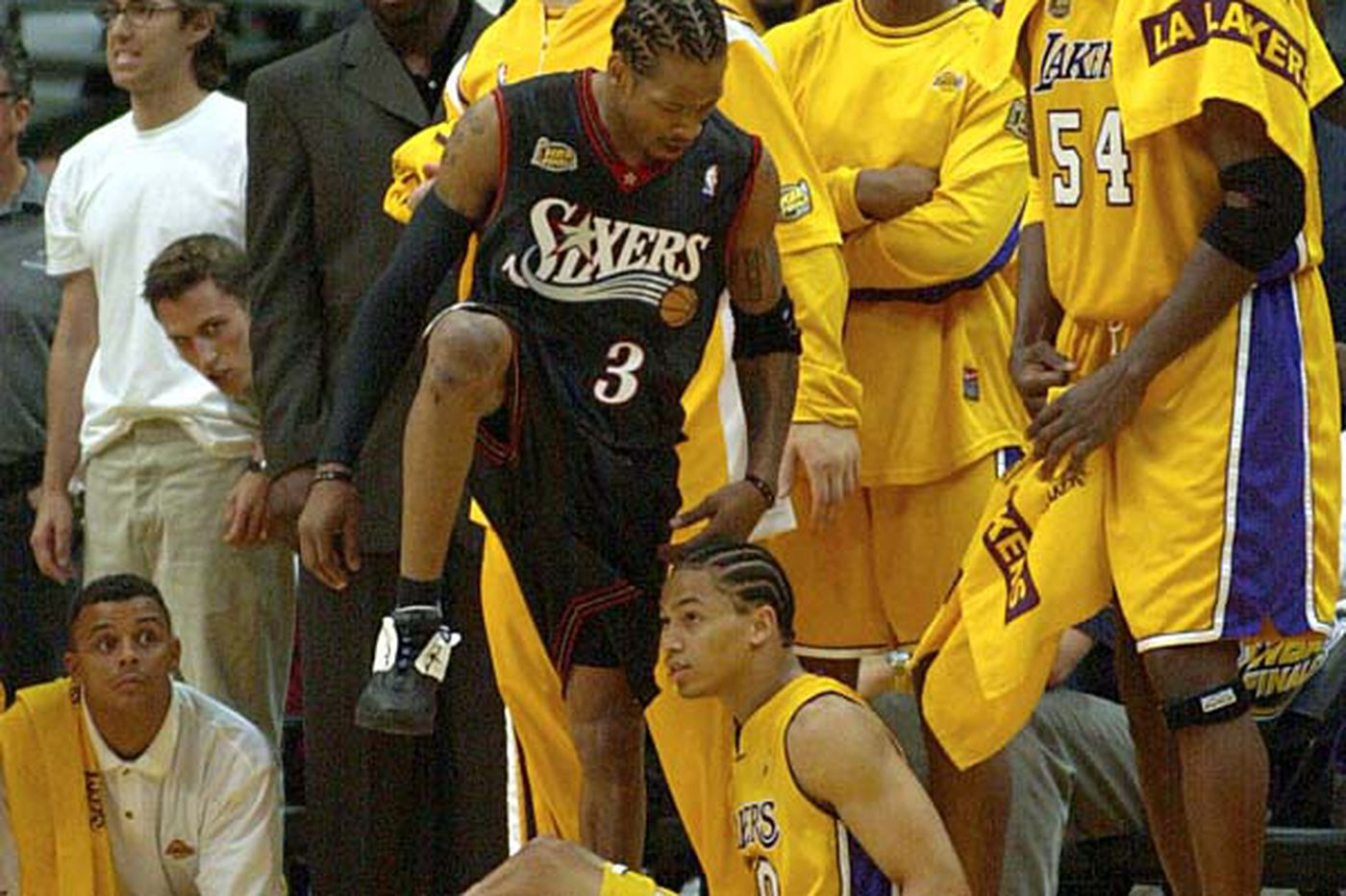 Sixers playoff flashback: Allen Iverson, Sixers take a big step over favored Lakers