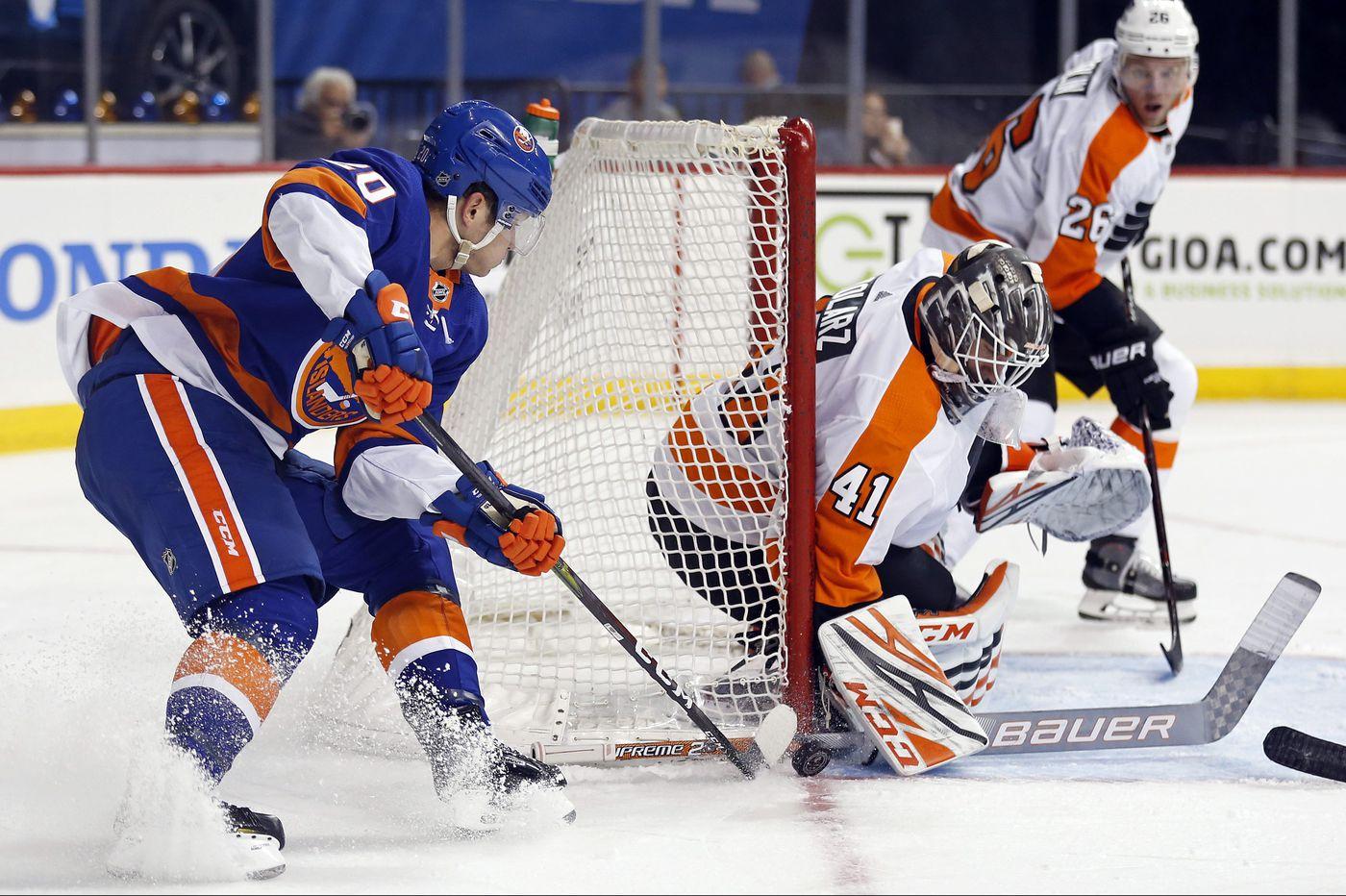 Flyers goalie hopeful Anthony Stolarz impressive in 5-1 win over Islanders
