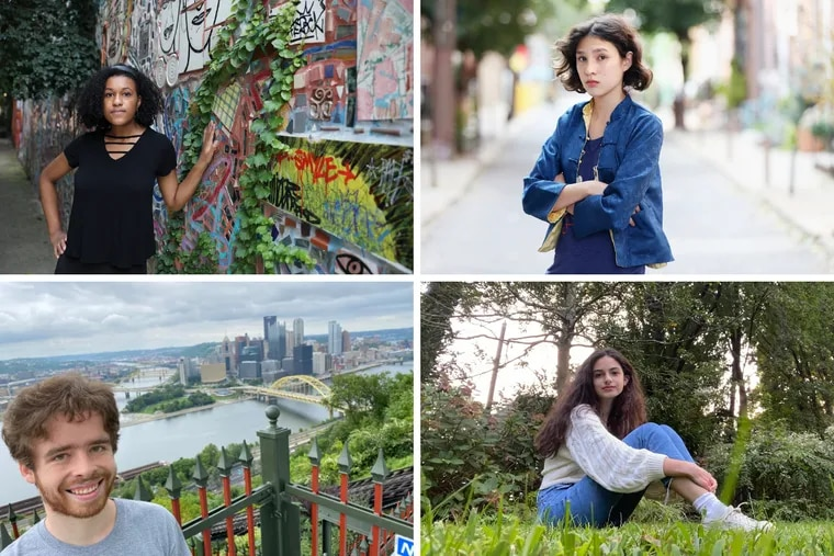 Clockwise from top left: Nia Peterson, Tilia Wongcini, Anna Wetzel, and Steven Labalme are all teens concerned about climate change.