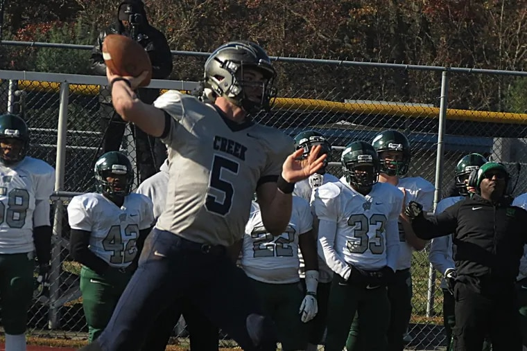 Record setting quarterback Devin Leary of Timber Creek wore his Little League No. 5 in his final high school game, a 42-14 win over Winslow Twp.