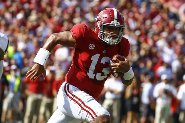 Alabama holds the No. 1 spot in the initial College Football Playoff ranking