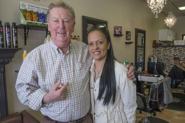After disaster strikes his shop, beloved Delco barber, 84, finds a new home — in a beauty salon
