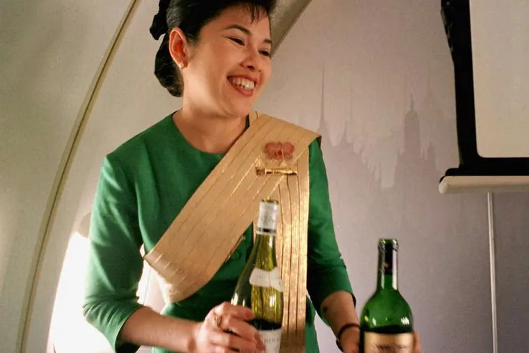 Since 1996, when this flight attendant offered wine, selections have gotten much fancier - and more costly.