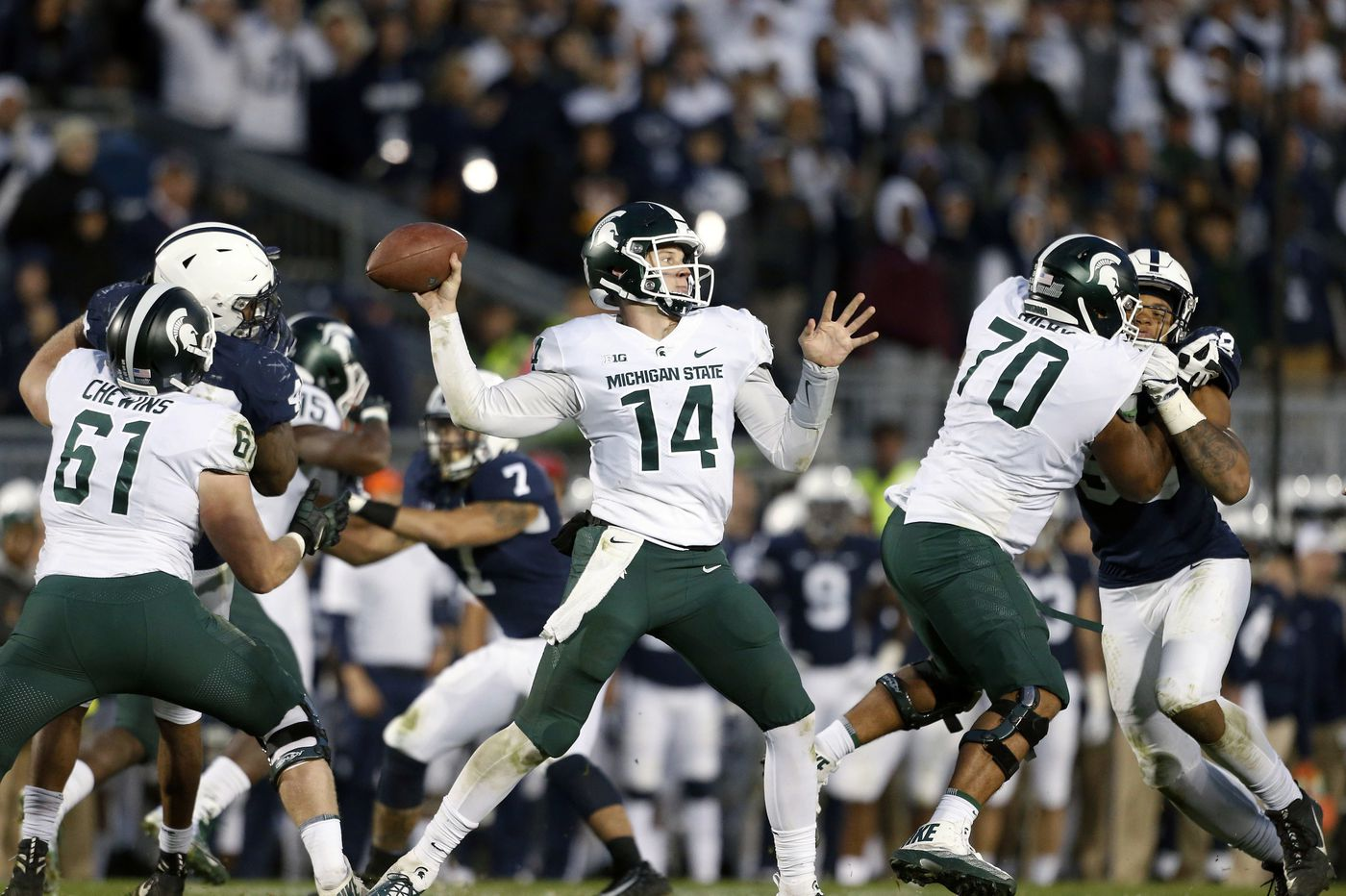 Penn State has plenty of familiarity with Michigan State quarterback Brian Lewerke