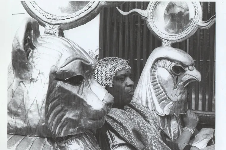 Sun Ra, on the set of the 1974 film Space is the Place.