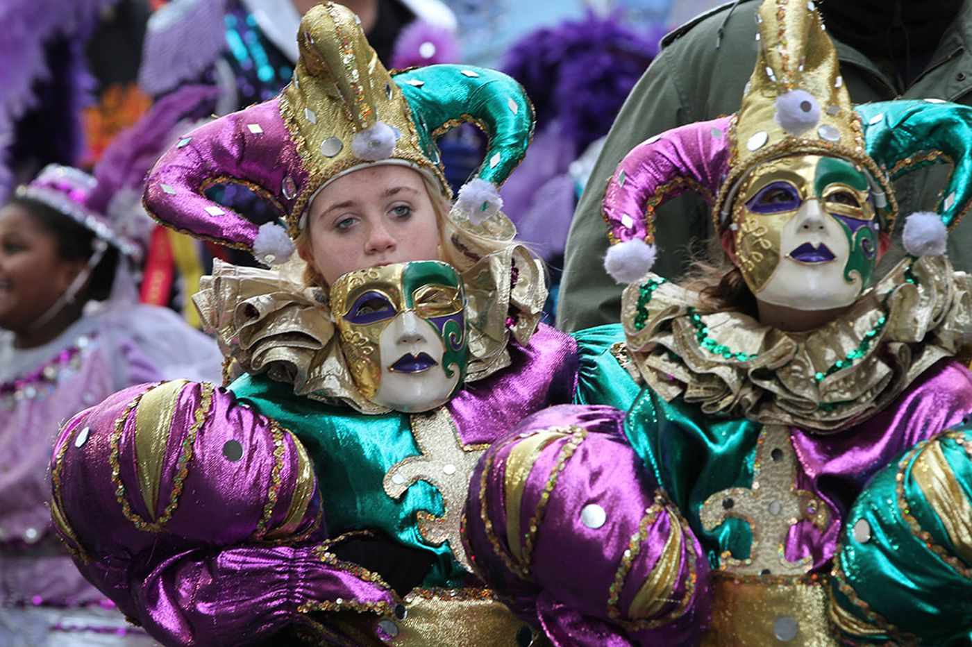A second strut for Mummers - in Manayunk for Mardi Gras