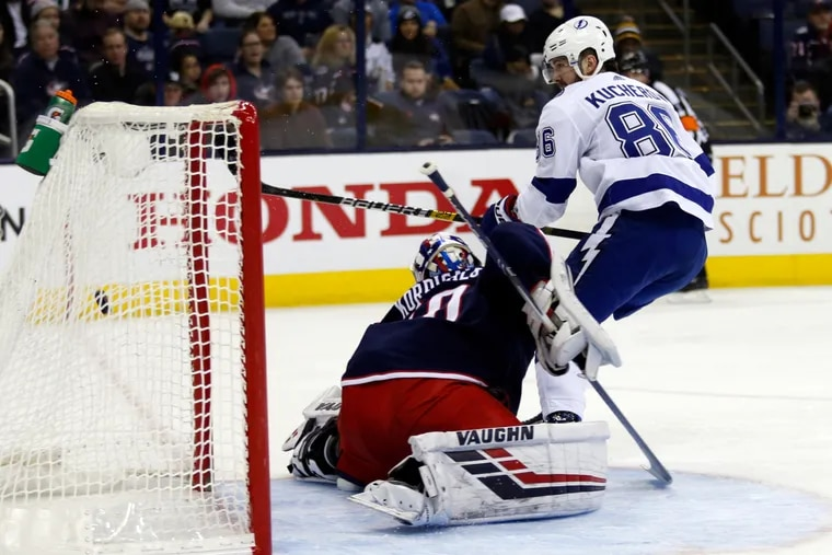MVP candidate Nikita Kucherov scored two goals in the first period of Tampa Bay's win over Columbus. The Lightning will put their impressive opening-period over/under record to the test Tuesday night against Carter Hart and the red-hot Flyers at the Wells Fargo Center.