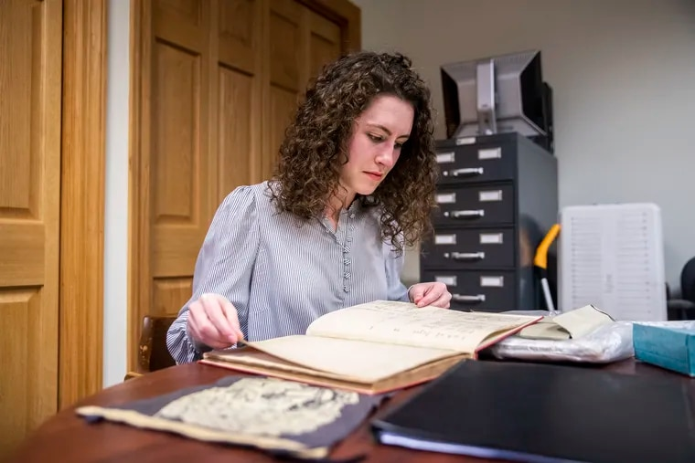 Villanova graduate student Angelina Lincoln scoured the archives of Saint Thomas of Villanova monastery in researching the life of William Moulden, born an indentured servant, who left his $10,000 farm to the financially struggling school in the late-19th century.