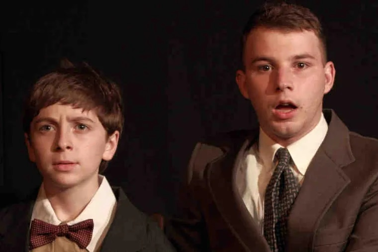 Gavin Becker (left) and Jordan B. Mottram play the brothers living with their steely, unloving grandmother while their widower father travels for a living.