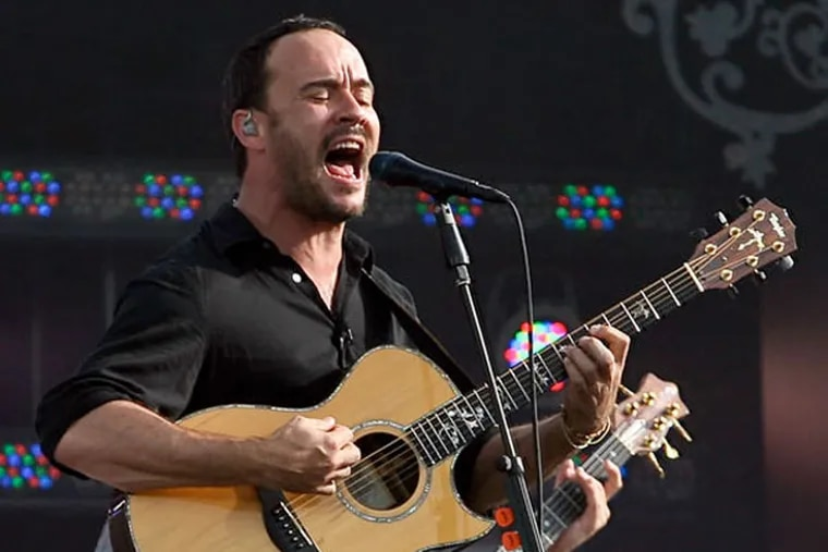 Dave Matthews Band plays the Wells Fargo Center on Tuesday.