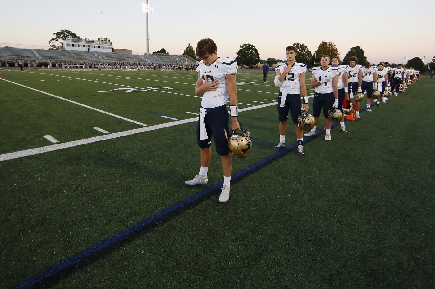 La Salle High honors Isaiah Turner at an emotional 35-27 opening win over Manheim Township
