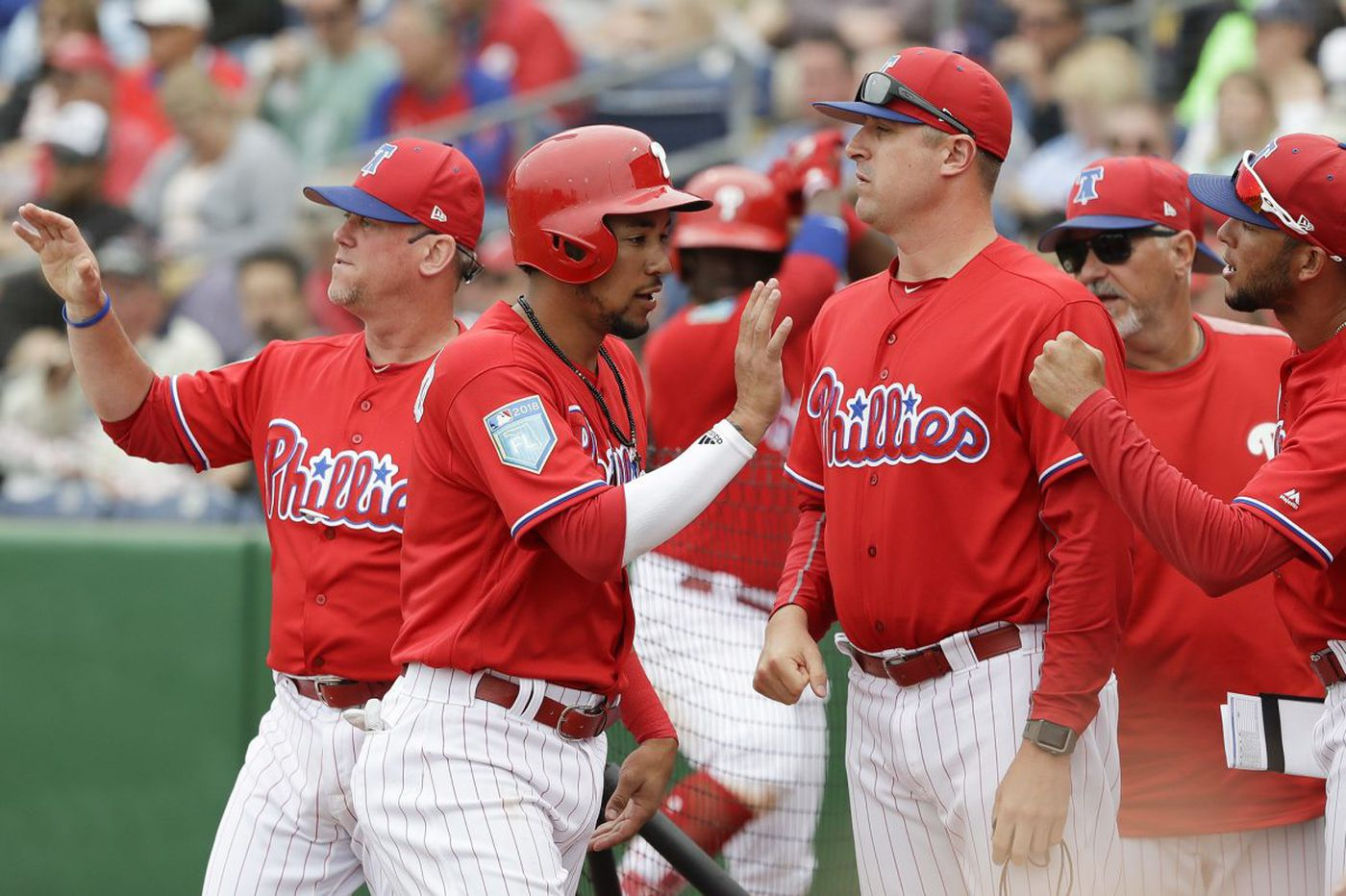 Batting eighth for the Phillies, the pitcher