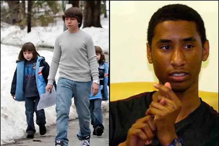 Blake Robbins (left), a Harriton High School junior, was awarded $175,000. Jalil Hasan (right), who graduated in June from Lower Merion High School, was awarded $10,000. (File photos)
