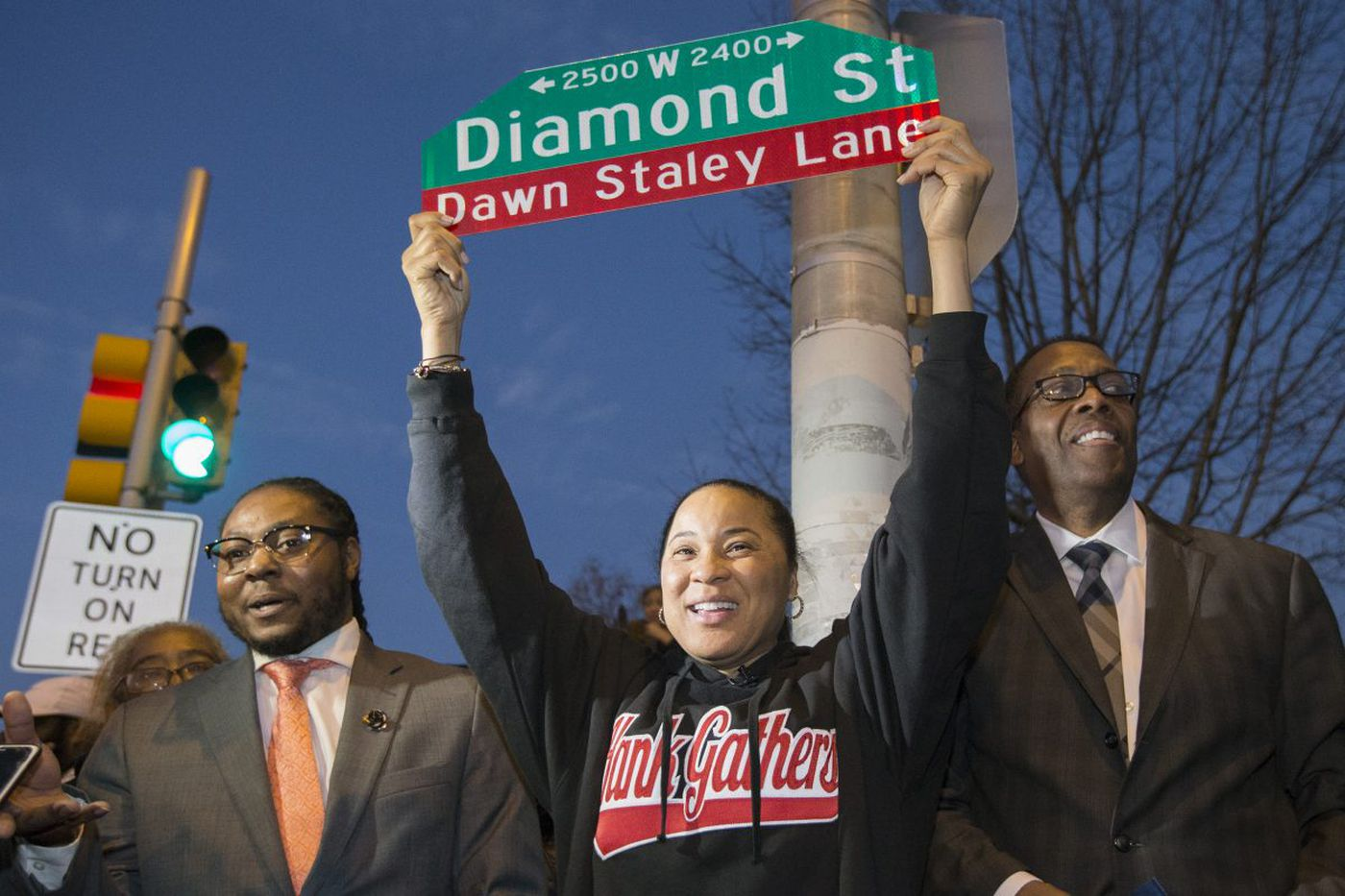 As Dawn Staley comes home to North Philly, 25th and Diamond is renamed Dawn Staley Lane | Mike Jensen
