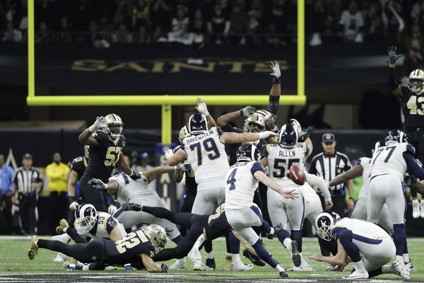 NFC Championship: Rams head to Super Bowl on 57-yard overtime field goal as blown call ends Saints' season
