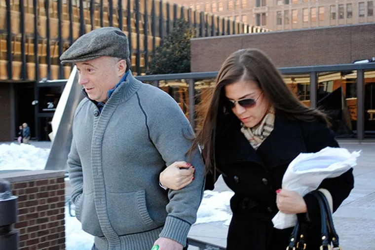 George Borgesi and wife Alyson Borgesi leaving the courthouse on his release day January 24, 2014.  (GABRIELA BARRANTES / DAILY NEWS STAFF)