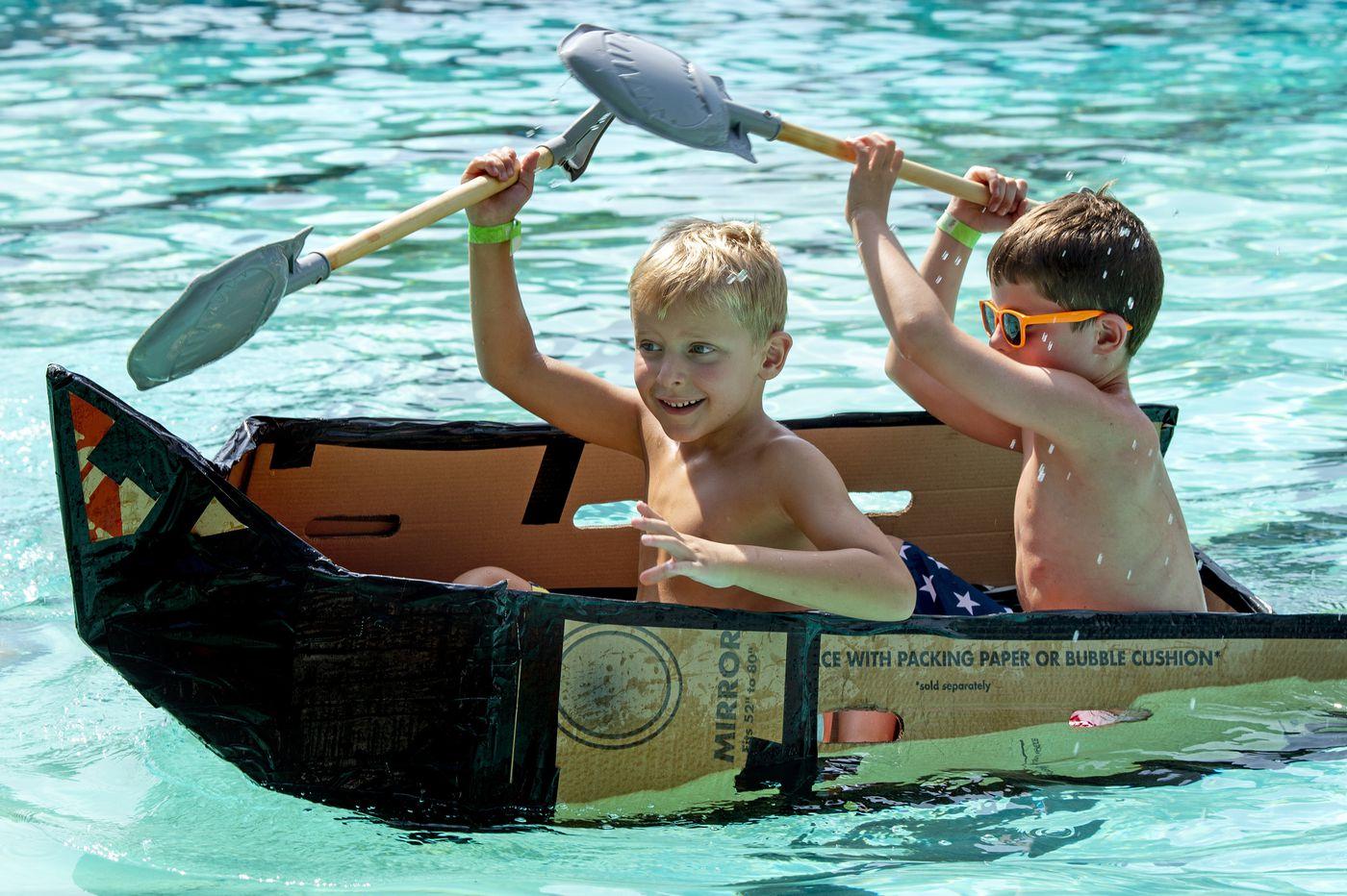 Cardboard boat regatta closed out summer pool season in Ridley Park
