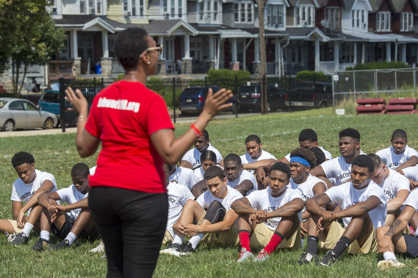 Boys' Latin, Frankford football teams reunite on field in a 'Practice 4 Peace'