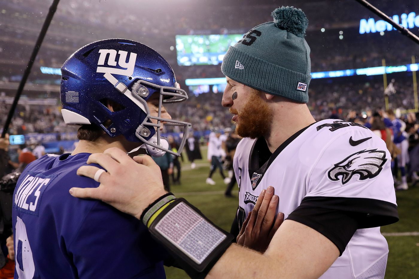 Carson Wentz can be playoff equalizer, and other observations from Eagles' 34-17 win over the Giants | David Murphy