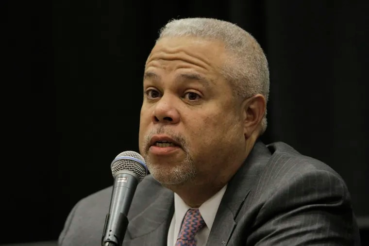 Anthony Williams speaks at the Next Great City Coalition's Mayoral Forum on Tuesday, March 3, 2015. (STEPHANIE AARONSON / Staff Photographer)