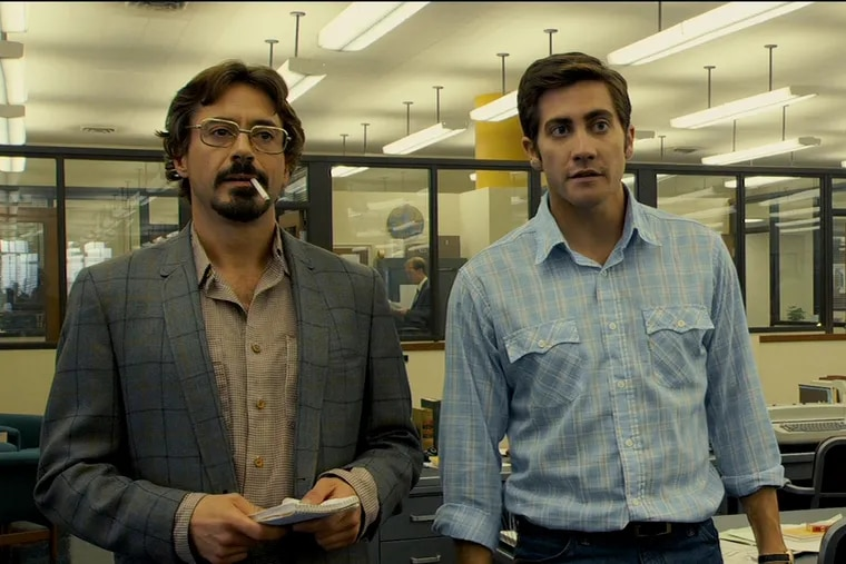 """Robert Downey Jr. is a reporter and Jake Gyllenhaal an editorial cartoonist in David Fincher's """"Zodiac,"""" a masterful account of the hunt for the serial killer who called himself Zodiac."""