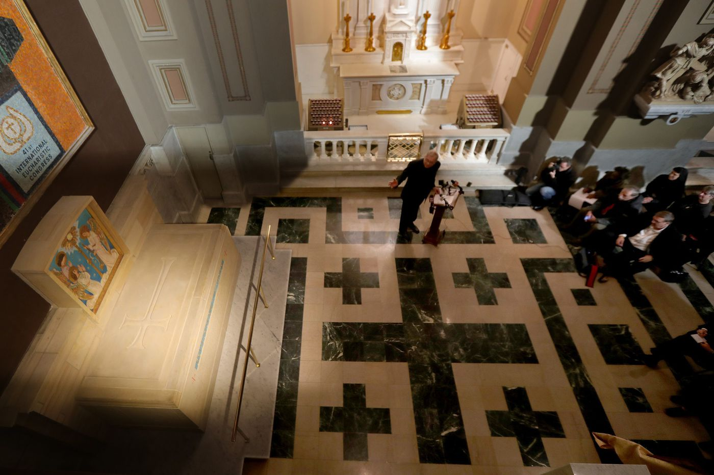 Moved from Bensalem, St. Katharine Drexel's tomb unveiled at Cathedral