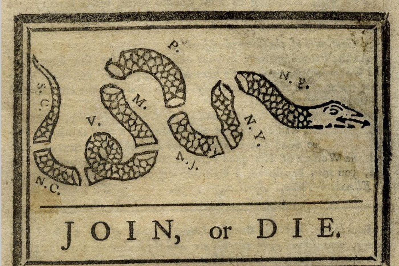 Copy of Ben Franklin's newspaper with 'Join or Die' political cartoon sells for 50K at auction