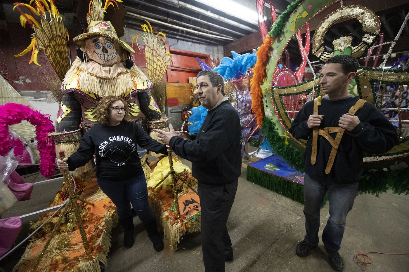 The Mummers Parade is a heavy lift. These marchers take steps to avoid injury.