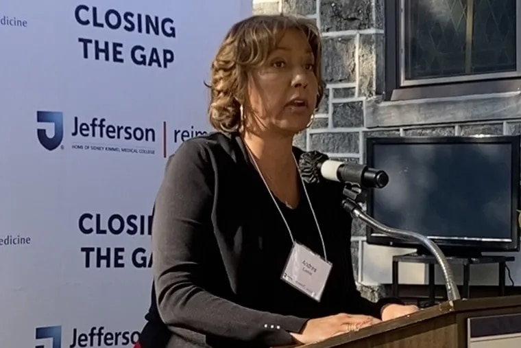 Andrea Custis, president of the Urban League of Philadelphia, provided a strong endorsement of Closing the Gap, of joint effort of Jefferson Health and Novartis Pharmaceuticals Corp. to reduce cardiovascular disease in five North and South Philadelphia ZIP codes.