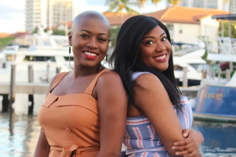 """Penn student Maritza Moulite (right) and her sister Maika, authors of """"One of the Good Ones."""""""
