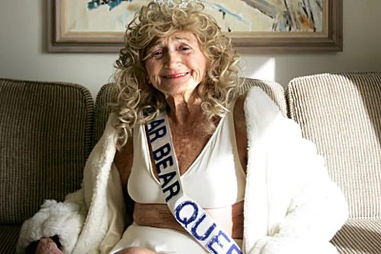 Polar Bear Queen Irene Jameson, 85, of Sea Isle City poses for her photo shoot.  ( David Swanson / Staff Photographer )