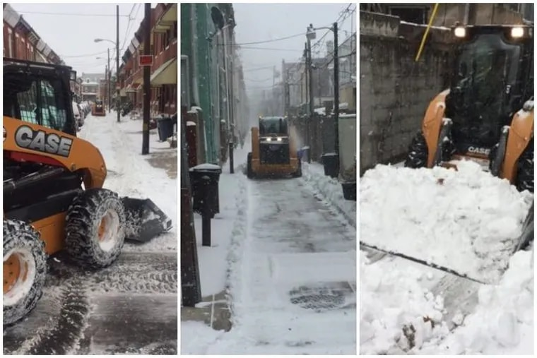 """""""Snowcats"""" in use during a previous snowfall. The Streets Department has added more than a dozen to help tackle small side streets."""