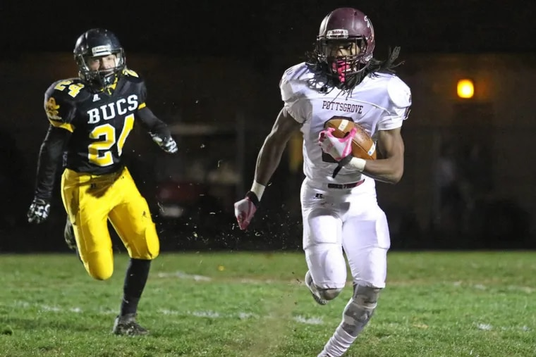 Pottsgrove's Rahsul Faison (2) carried 322 times for  2,925 yards and 42 touchdowns.