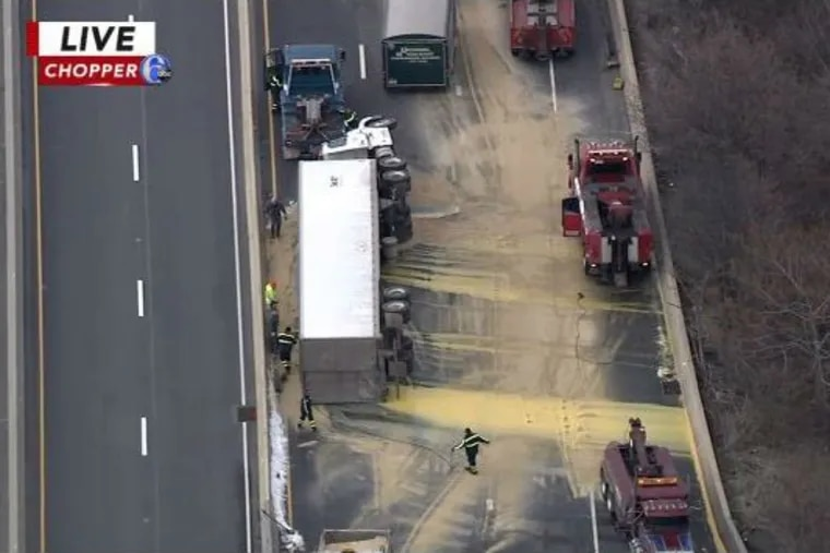 Footage of the crash from 6ABC.