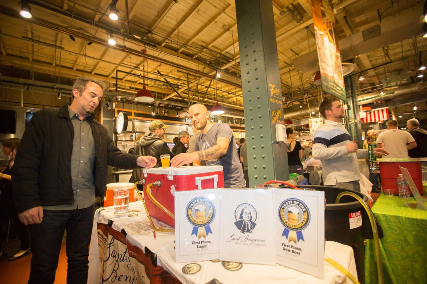 Lagers, Saint Benjamin, and a public fest at Reading Terminal rule Brewvitational 2017