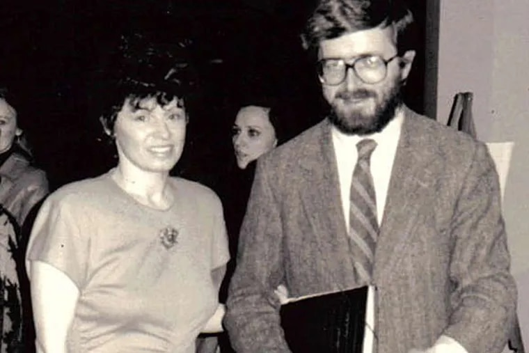 Stanislaw Baranczak and Merilyn Jackson and a notice for a 1987 reading that she helped arrange.
