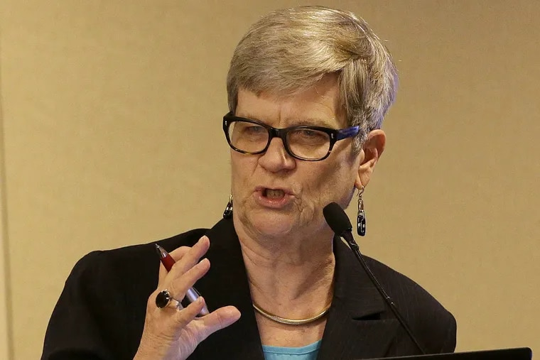Kathleen Hall Jamieson of the University of Pennsylvania's Annenberg School for Communication, speaks during a civics program showcase at the 2017 Ninth Circuit Judicial Conference in San Francisco in July.