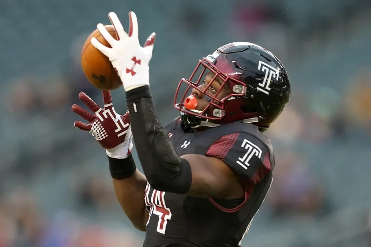 Temple tight end Kenny Yeboah (84) would present matchup problems for Maryland.