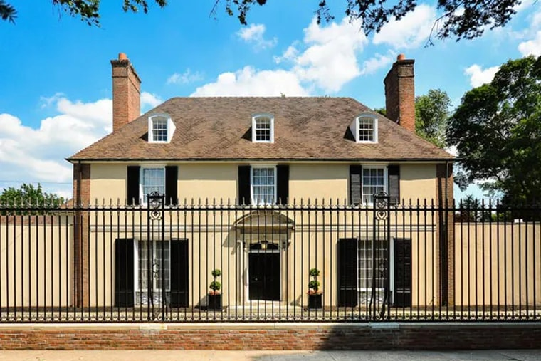 This historic Georgian revival estate in Elkins Park, known as Sylvan Edge, is on the market for $1.6 million.
