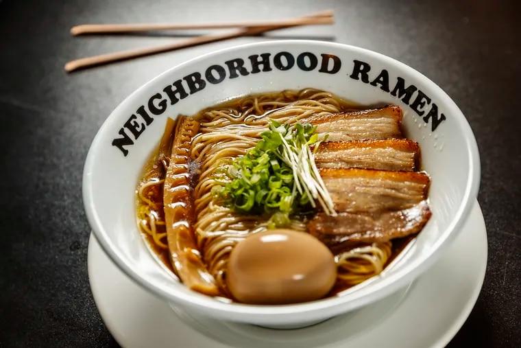 The Shoyu Ramen of Neighborhood Ramen on 3rd Street in South Philadelphia.